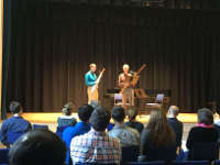 Vincent LaMonica in the masterclass with Rick Ranti, the Associate Principal bassoonist of the Boston Symphony Orchestra